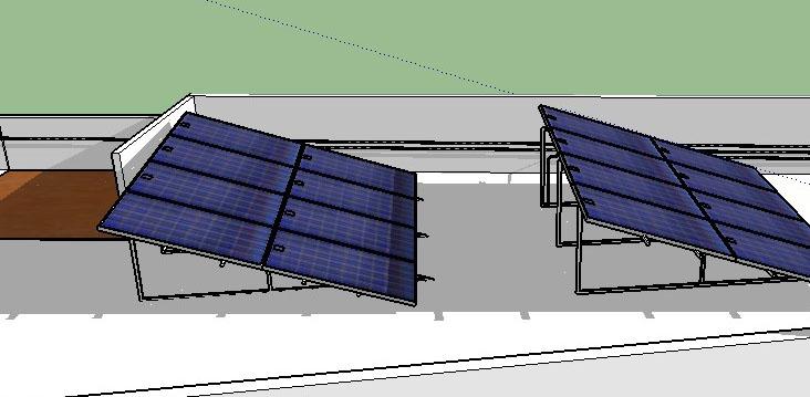 estudio de sombras para paneles solares