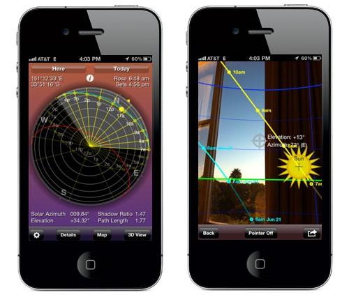 App para cálculo de sombras en paneles solares