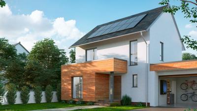 Nissan presenta paneles solares para ampliar la gama de sus productos.
