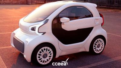 Nuevo EV con impresión en 3D presentado en Shangai