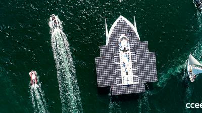 Barco impulsado por energía solar ayudará a salvar el océano