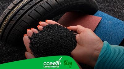 Neumáticos usados para la creación de artículos sustentables