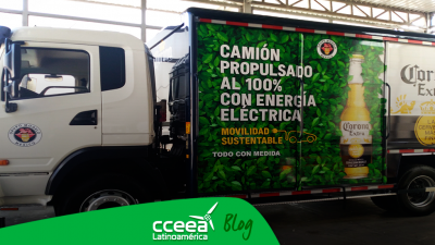 Grupo Modelo presentó su primer camión de reparto 100% eléctrico