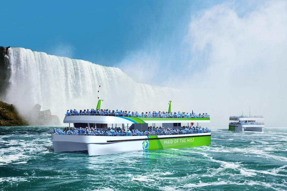 En las Cataratas del Niágara implementarán un catamarán eléctrico
