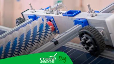 Desarrollan robot que limpia paneles solares