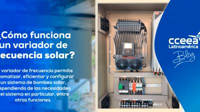 ¿Cómo funciona un variador de frecuencia solar?